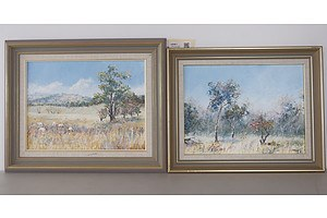 J. Matson, Pair of Landscapes, Oil on Board, Signed and Dated Lower Right: J. Matson '89