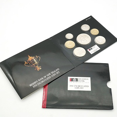 New Zealand 1991 Rugby World Cup Uncirculated Coin Set