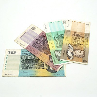 Collection of Australian Notes, Including Coombs/ Wilson $10 SAK430296