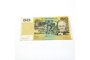 Australian Johnston/ Fraser $50 Note, YPN265387