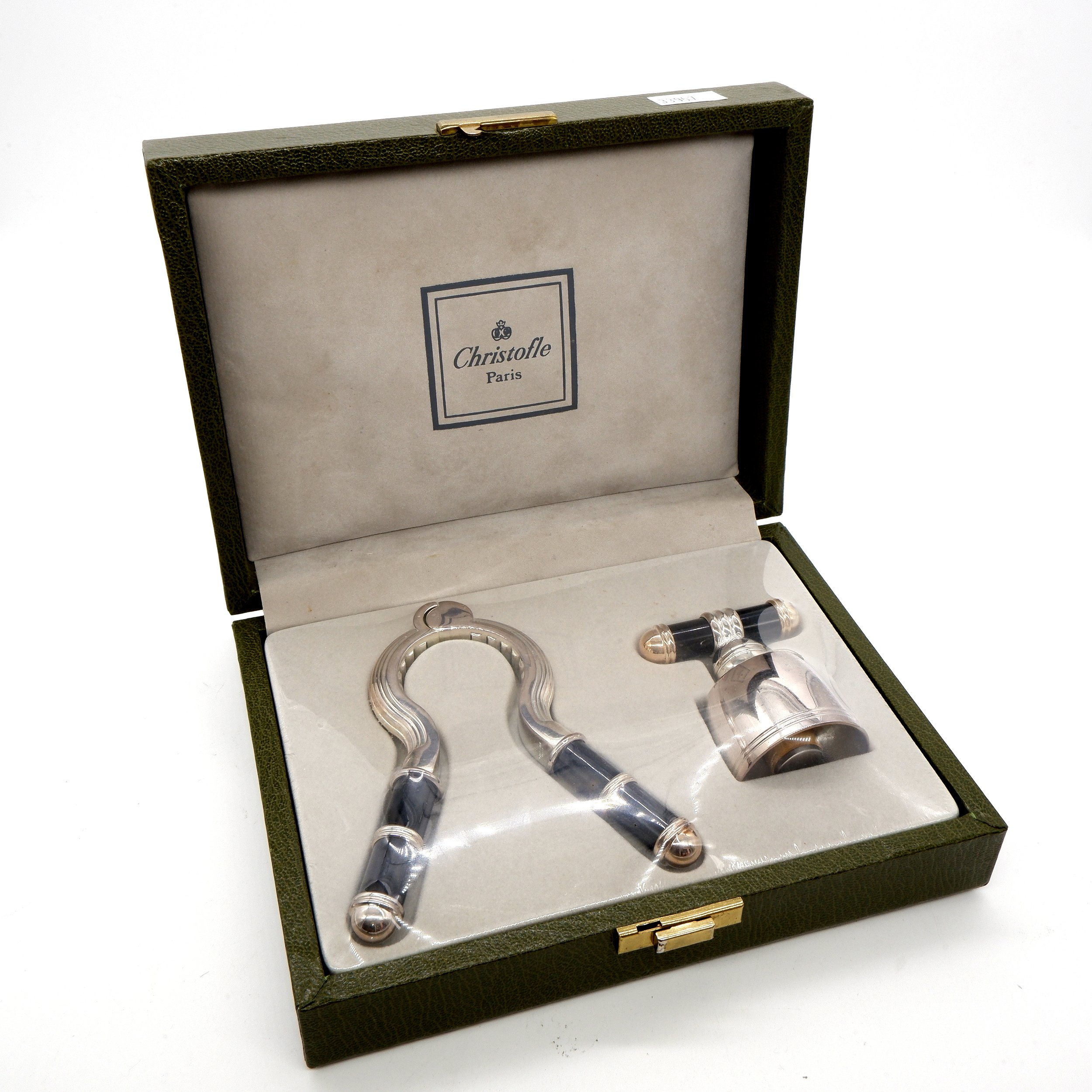 'Boxed Christofle Paris Silver Plated Champagne Set'