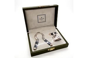Boxed Christofle Paris Silver Plated Champagne Set