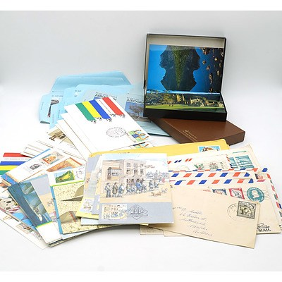 Collection of First Day Covers, Stamped Envelopes and Postcards, and More