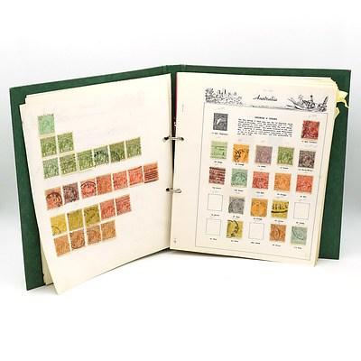 Folder of Australian Pre Decimal Stamps, Kangaroo Series, George V, 1932 Opening of Sydney Harbour Bridge and More