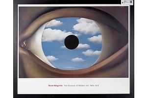 Rene Magritte (b1898-1967), Belgium, 'The False Mirror' Print