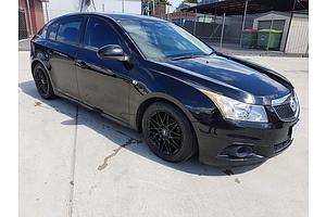 4/2012 Holden Cruze Equipe JH MY12 5d Hatchback Black 1.8L