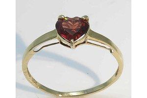 10ct Gold Natural Garnet Ring