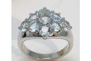 Sterling Silver Sky-Blue Topaz Ring