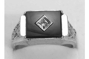 Sterling Silver Onyx Signet Ring