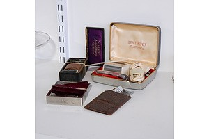 Group of Shaving Collectibles including Gillette and Remington