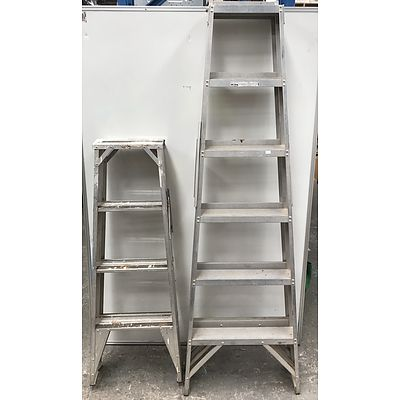 A Frame Ladders -Lot Of Two
