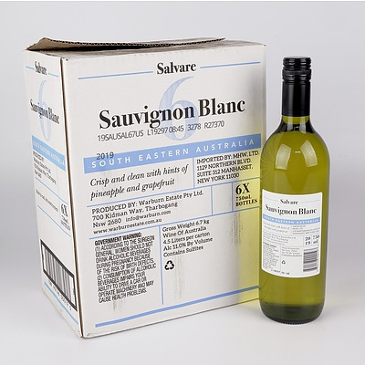 Case of 6x Salvare 2019 Sauvignon Blanc 750ml