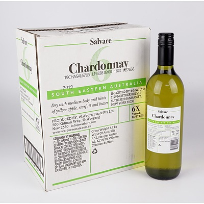 Case of 6x Salvare 2019 Chardonnay 750ml