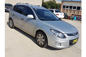 8/2012 Hyundai I30 cw SX 1.6 CRDi FD MY12 4d Wagon Silver 1.6L