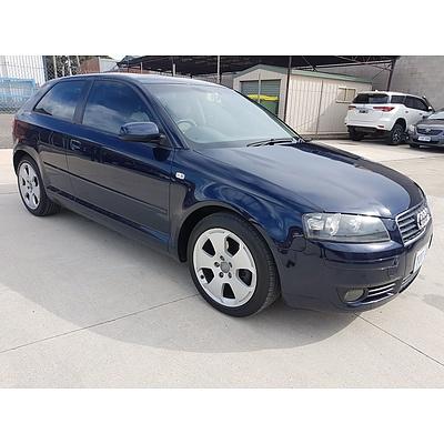 6/2004 Audi A3 2.0 FSI Ambition 8P 3d Hatchback Blue 2.0L