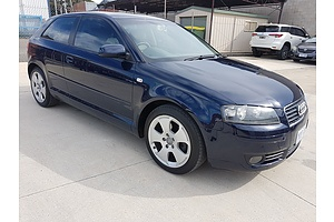 6/2004 Audi A3 2.0 FSI Ambition 8P 3d Hatchback Blue 2.0L