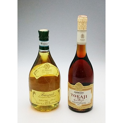 Bottle of 2012 Frascati 750 ml and a Hungarian Sweet Rose 750 ml (2)