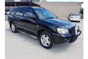 4/2004 Toyota Kluger Grande (4x4) MCU28R 4d Wagon Black 3.3L