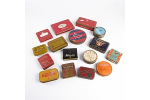 16 Assorted Vintage Cigarette and Tobacco Tins