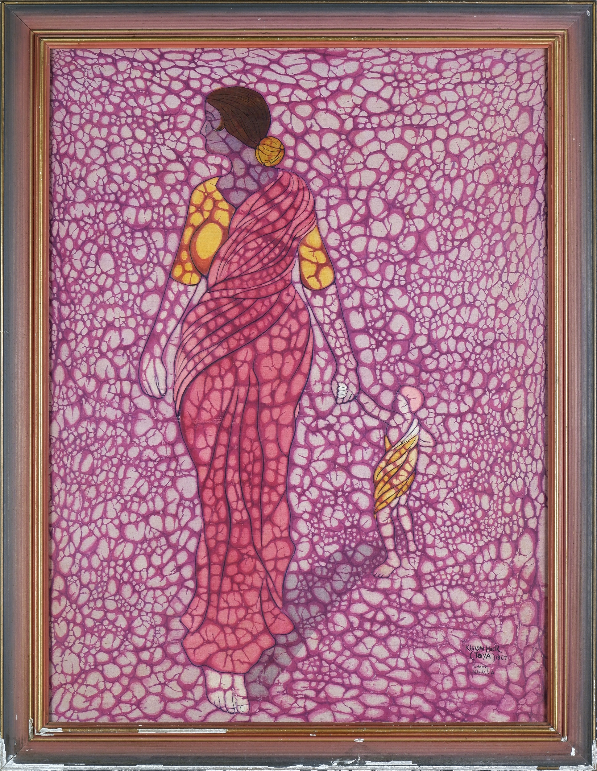 'Lim Khoon Hock (Toya) (born 1943, Malaysian), Untitled (Mother & Child), Batik'