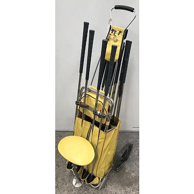 14 Piece PGA Golf Club Set with Buggy