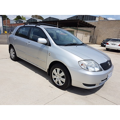 5/2002 Toyota Corolla Conquest SECA ZZE122R 5d Hatchback Silver 1.8L