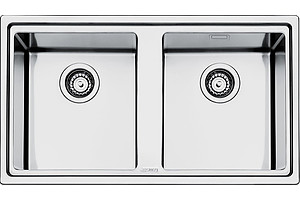 Smeg LD862A-2 Dual Bowl Stainless Steel Sink - Brand New -RRP $1318.00