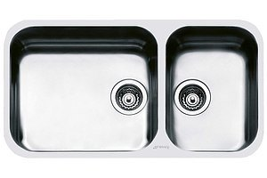 Smeg UM4530A Dual Bowl Stainless Steel Sink - Brand New -RRP $744.00