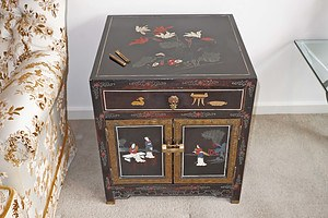 Chinese Coromandel Lacquer Side Cabinet, 20th Century