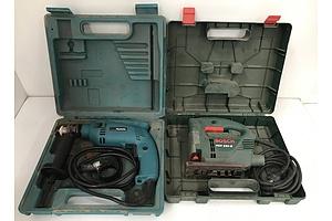 Makita Power Drill adn Bosch Jigsaw
