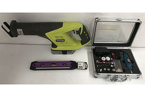 Ryobi Reciprocating Saw and XU1 Rotary Tool