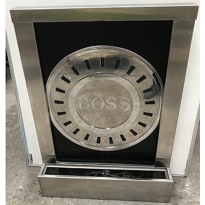 Hugo Boss Stainless Steel Illuminated Water Feature