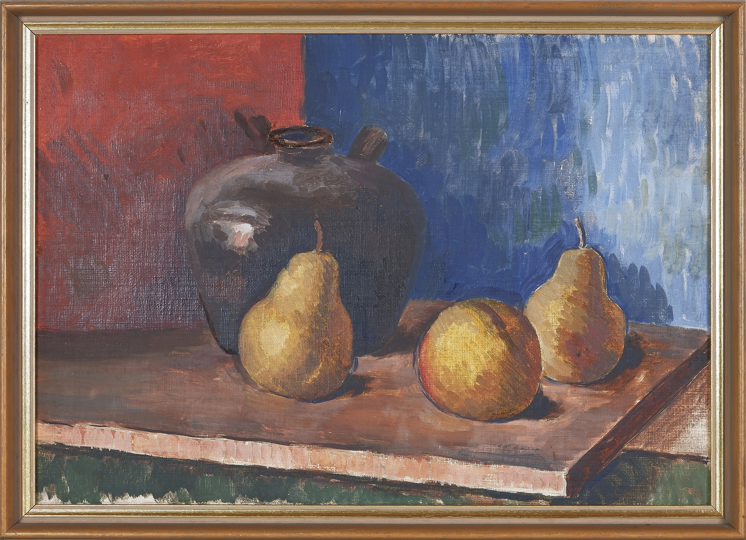 'Attributed to Douglas Dundas (1900-1981), Still Life with Fruit, Oil on Canvas on Board'