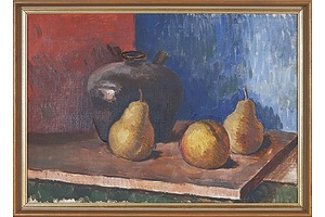 Attributed to Douglas Dundas (1900-1981), Still Life with Fruit, Oil on Canvas on Board