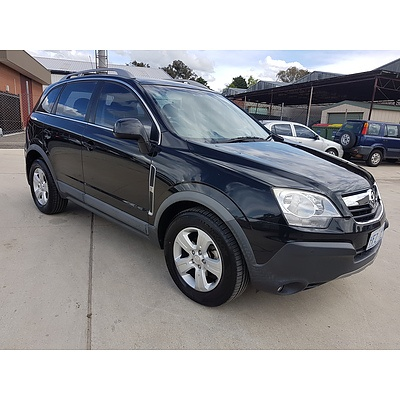 2/2010 Holden Captiva 5 (4x4) CG MY10 4d Wagon Black 2.4L