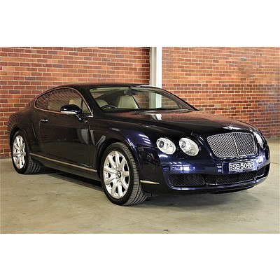 9/2004 Bentley Continental GT 3W 2d Coupe Blue 6.0L V12 Twin Turbo