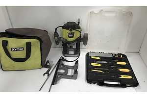 Ryobi Plunge Router and Chisel Set