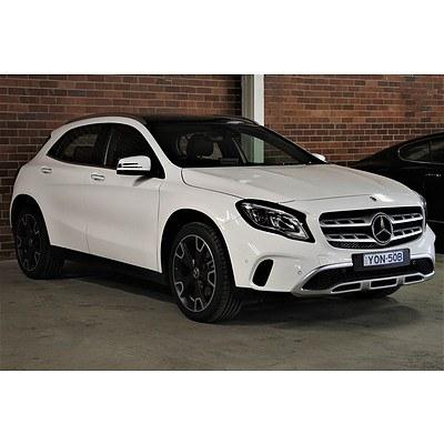 9/2018 Mercedes-Benz GLA250 4matic X156 4d Wagon White 2.0L