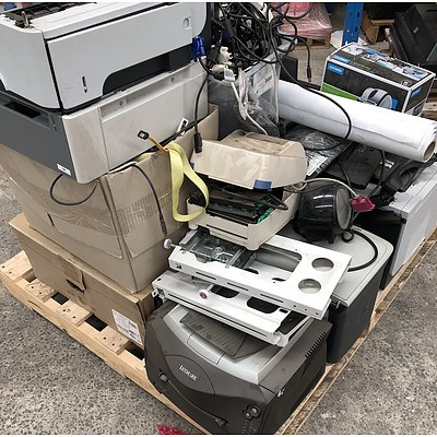 Bulk Lot of Assorted IT & Office Equipment - Printers, Cables, Monitor & HP Chromebook