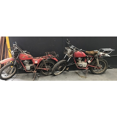 Two Honda CT125 Motorbikes -For Parts OR Restoration