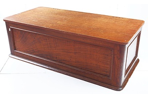 Australian Colonial Red Cedar Trunk Adapted to a Coffee Table with Hinged Later Top