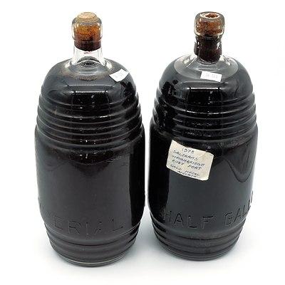 Two Vintage half Gallon Bottles of 1978 Saltrams Weighbridge Ruby Port (2)