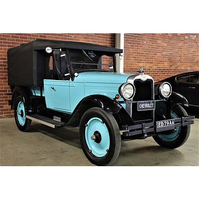 01/1928 Chevrolet AA National Utility One Tonner Blue 2.8L
