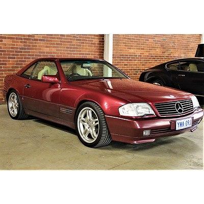 6/1992 Mercedes-Benz SL500 R129 2d Convertible Maroon 5.0L V8
