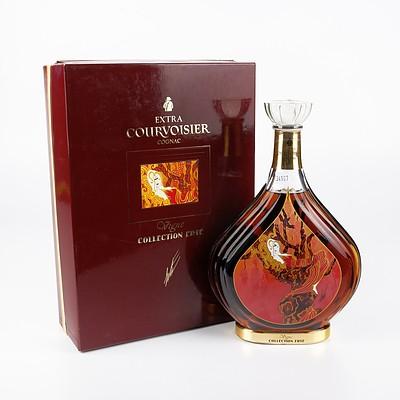 Rare Boxed Erte Edition No 1 Extra Courvoisier Cognac 700ml