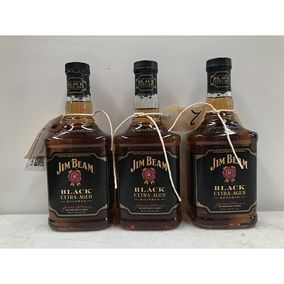 Jim Beam Black Extra Aged Bourbon 700ml -Lot Of Three