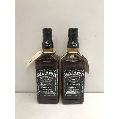 Jack Daniels Tenesse Sour Mash Whiskey 700ml -Lot Of Two