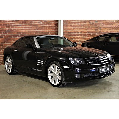 9/2004 Chrysler Crossfire Limited ZH 2d Coupe Black 3.2L
