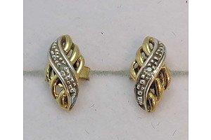 9ct Gold Diamond-Set Earrings