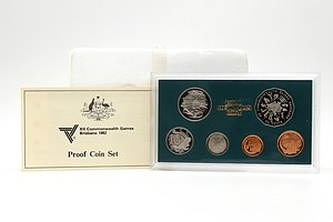 1982 XII Commonwealth Games Brisbane 1982 Royal Australian Mint Proof Coin Set